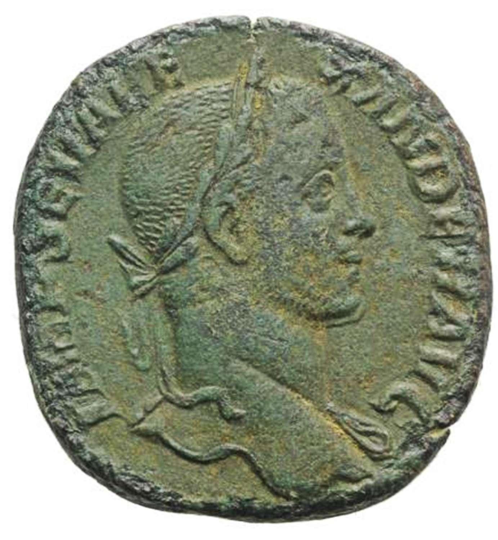 Ancient Roman Æ Sestertius of Emperor Severus Alexander