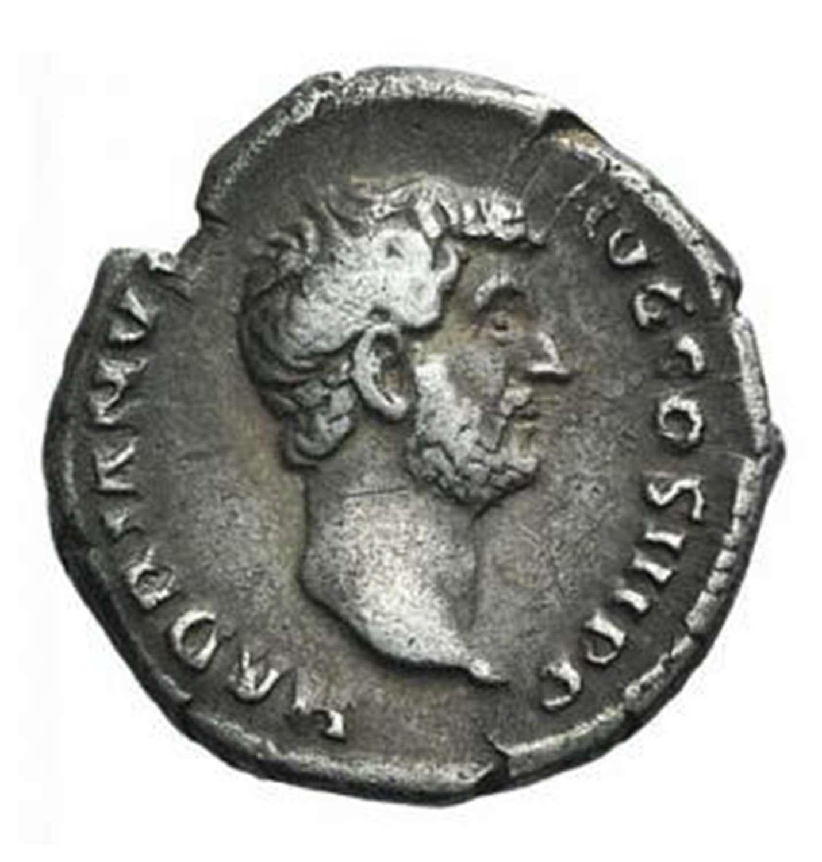 Ancient Roman Silver Denarius of Emperor Hadrian / to the Joy of Venus