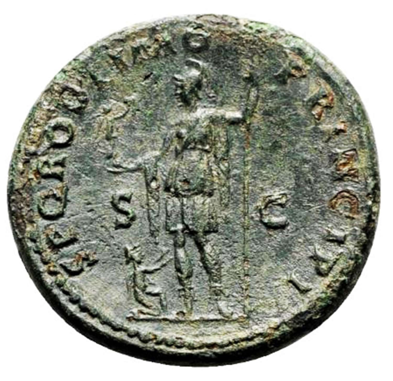 Ancient Roman AE AS of Emperor Trajan / Roma