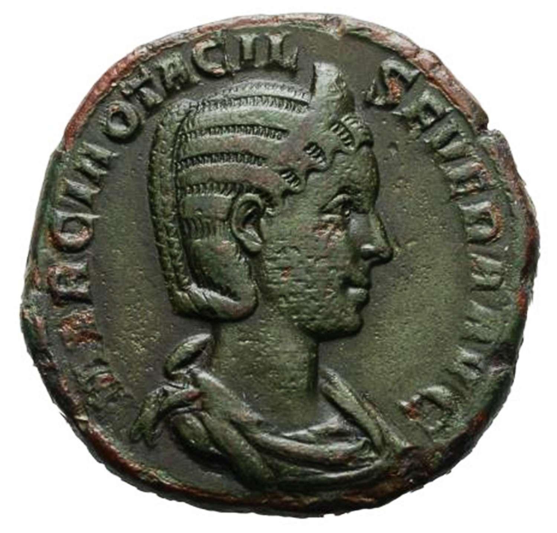 Ancient Roman AE Sestertius of Empress Otacilia Severa / Concordia