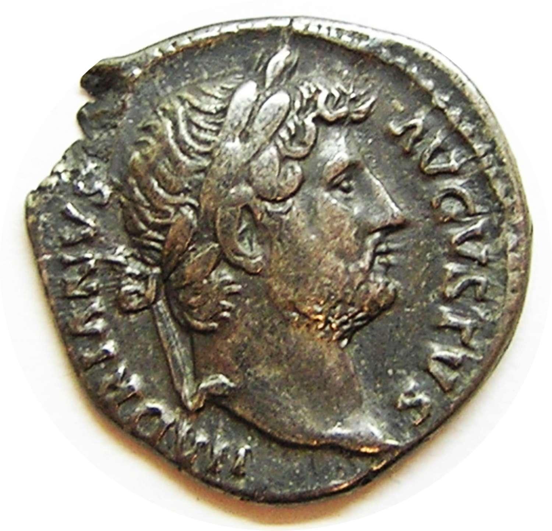 Ancient Roman Silver Denarius of Emperor Hadrian / Pudicitia