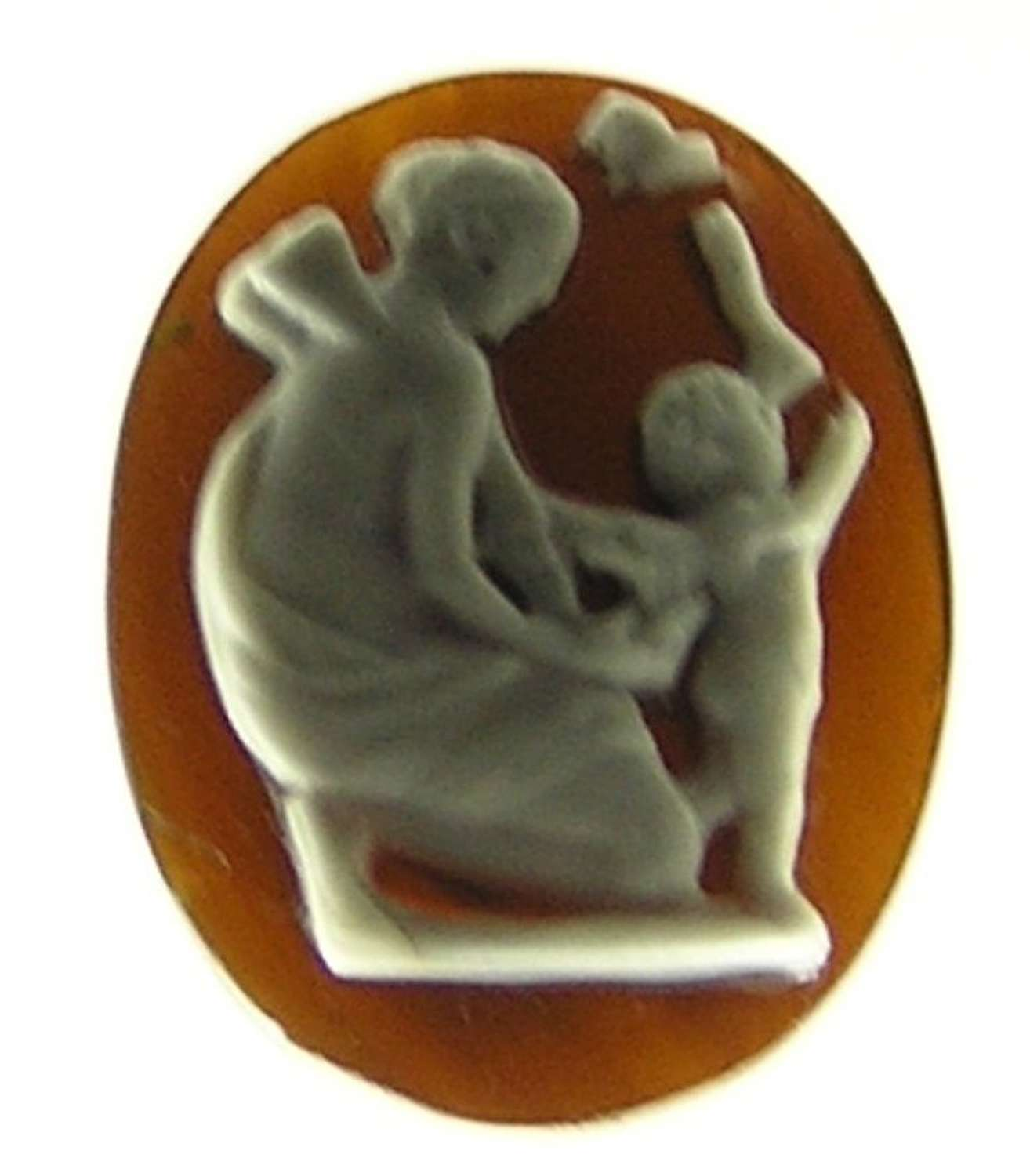 Ancient Roman cameo of Eros with a butterfly and Psyche