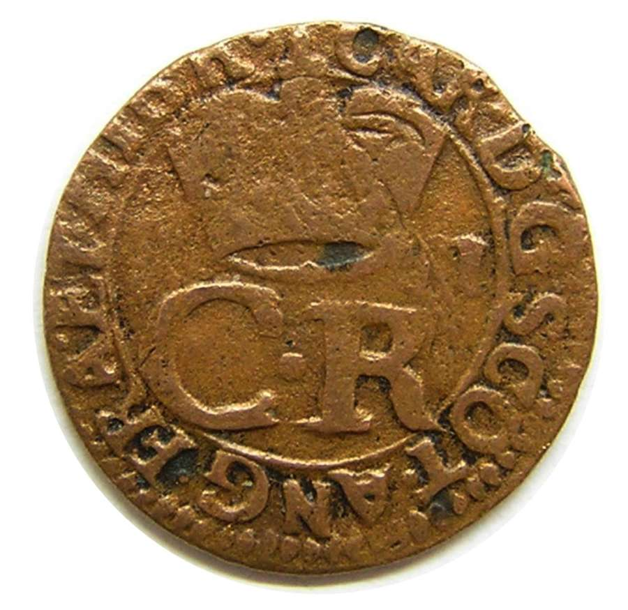 Scotland: King Charles I Copper Turner (2d)