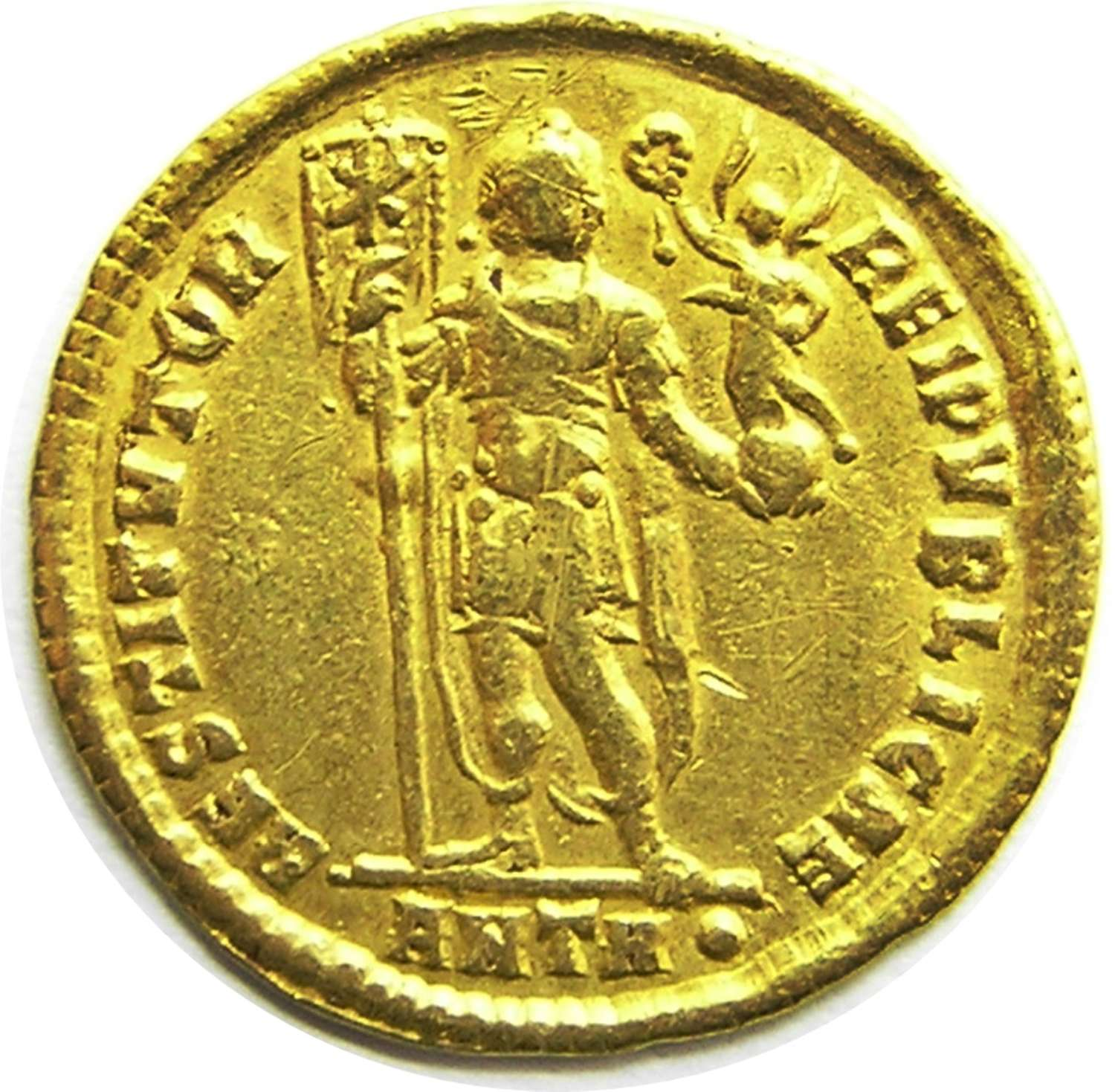 Roman Gold Solidus of Emperor Valentinian minted in Antioch