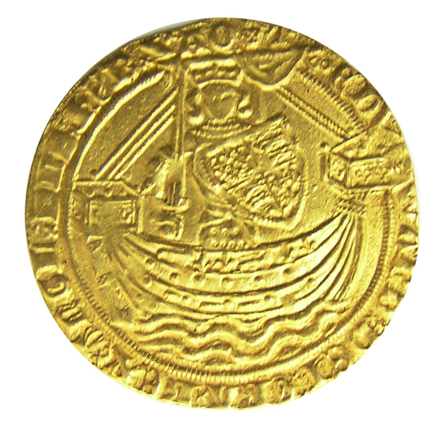Medieval gold Noble of king Edward III London Treaty Period