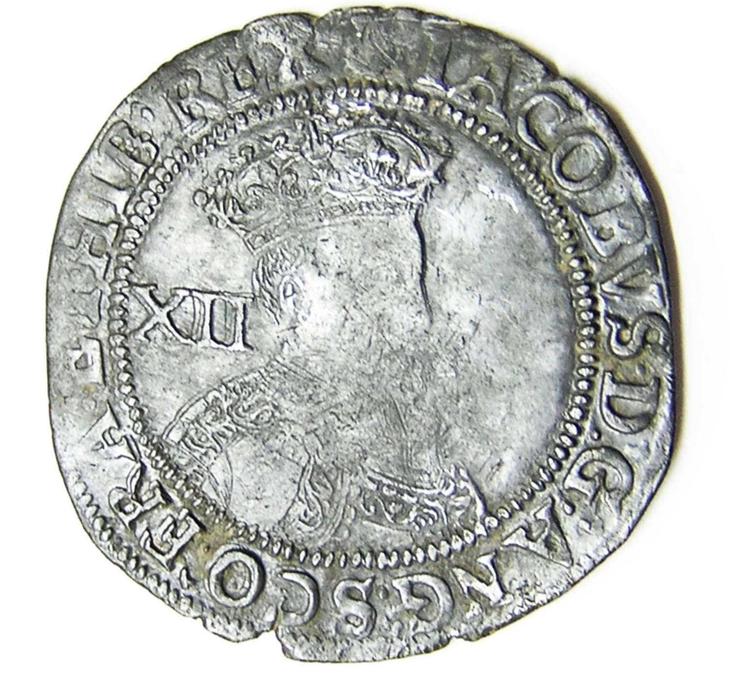 King James I Silver Shilling