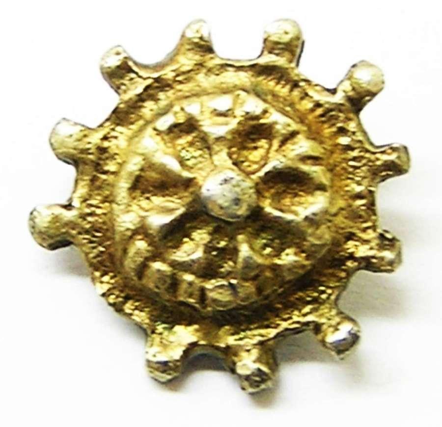 Renaissance silver-gilt clothing hook fastener Saint Catherines Wheel
