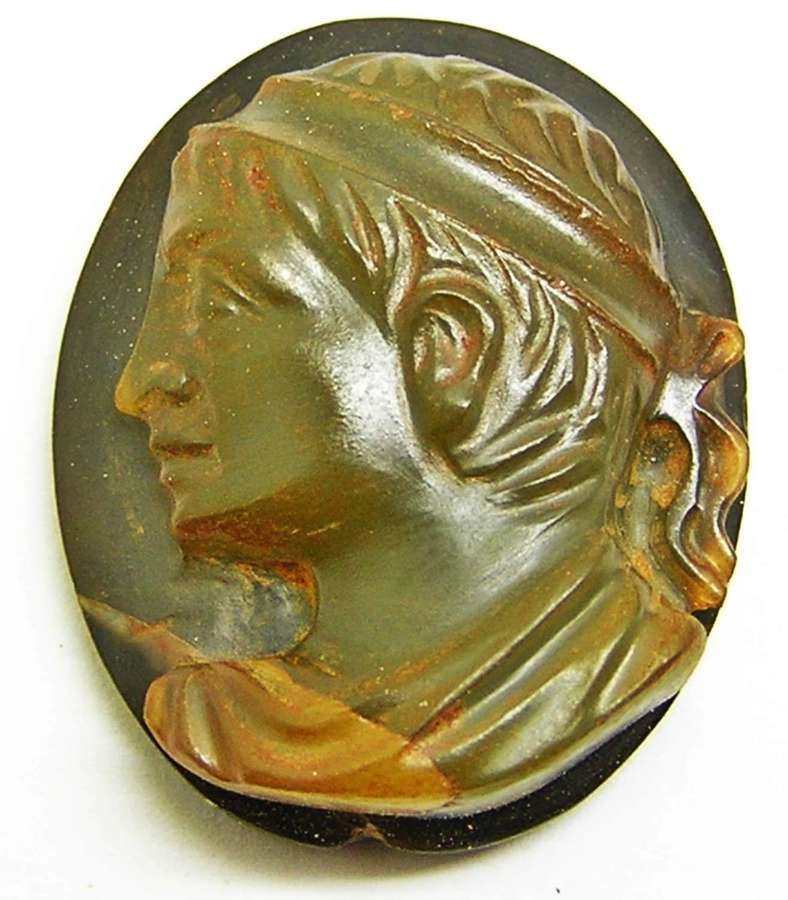 Hardstone cameo of a young prince