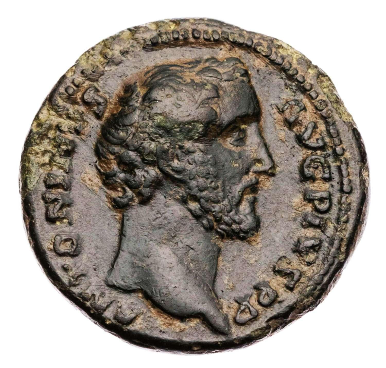 Ancient Roman AE AS of  Emperor Antoninus Pius / Fortuna