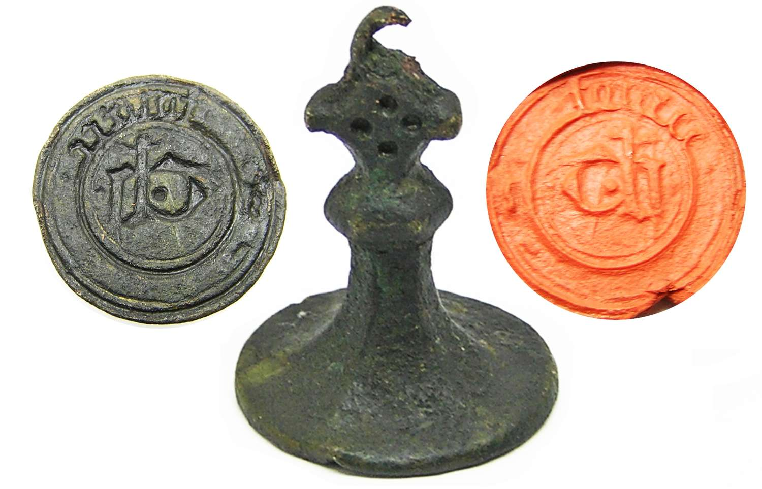 Medieval bronze seal matrice rough cast / unfinished interesting!