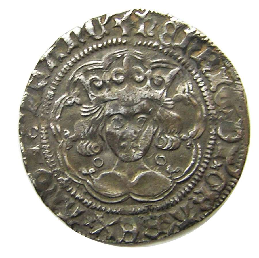 Medieval silver groat of king Henry VI Calais