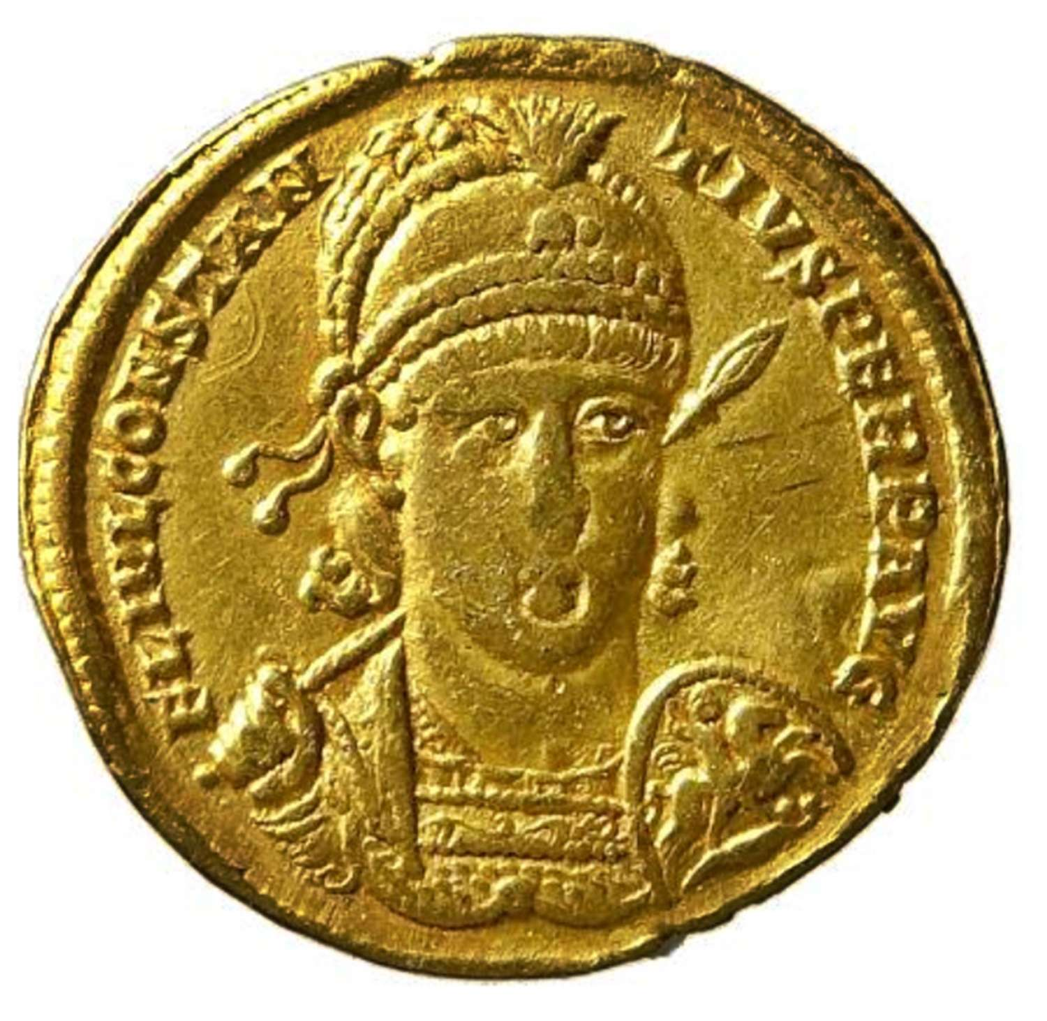 Roman Gold Solidus of Emperor Constantius II from the Antioch mint