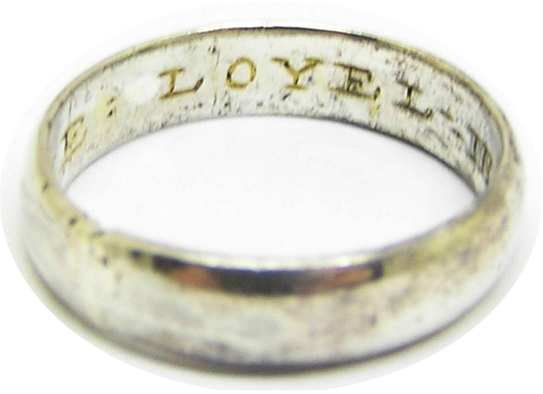 Jacobean silver-gilt posy ring