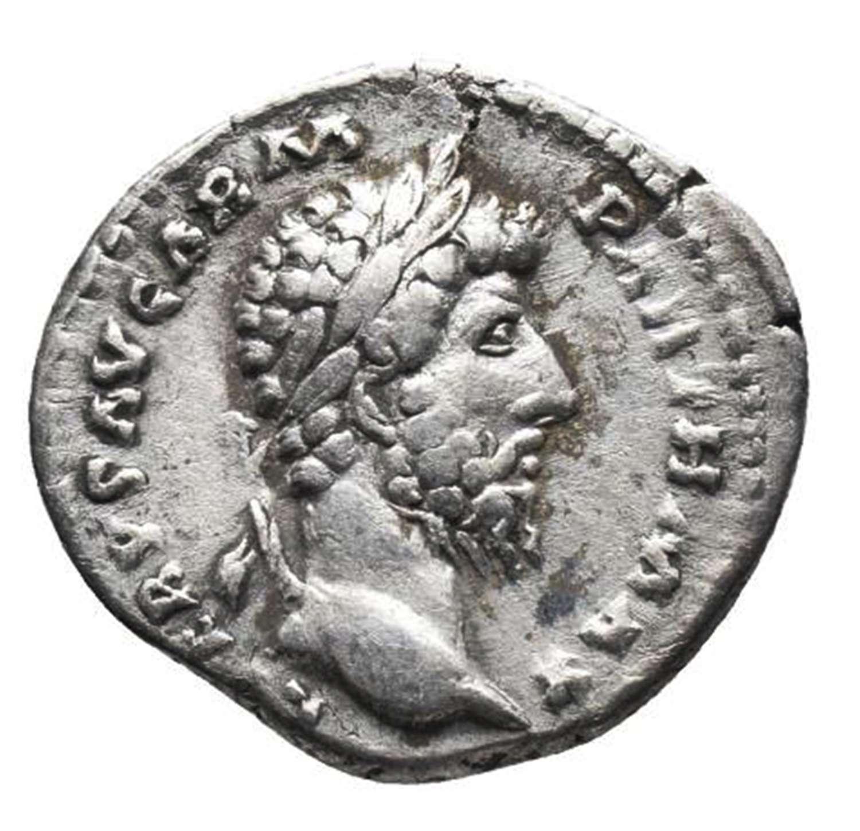 Ancient Roman Silver Denarius of Lucius Verus / Victory Parthia