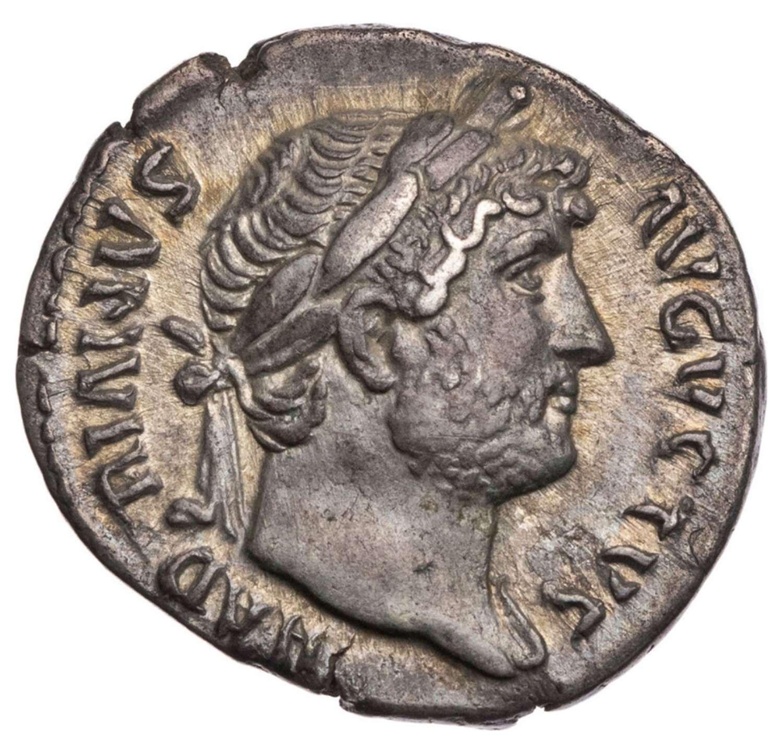 Ancient Roman Silver Denarius of Emperor Hadrian / Victory