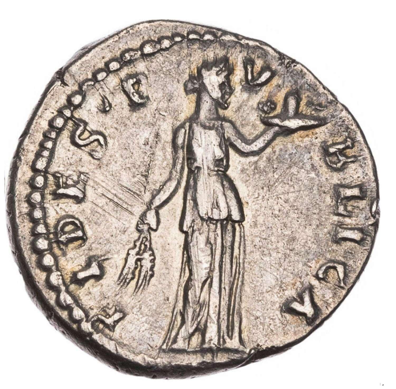 Roman Silver Denarius of Emperor Hadrian / Loyalty of the Public
