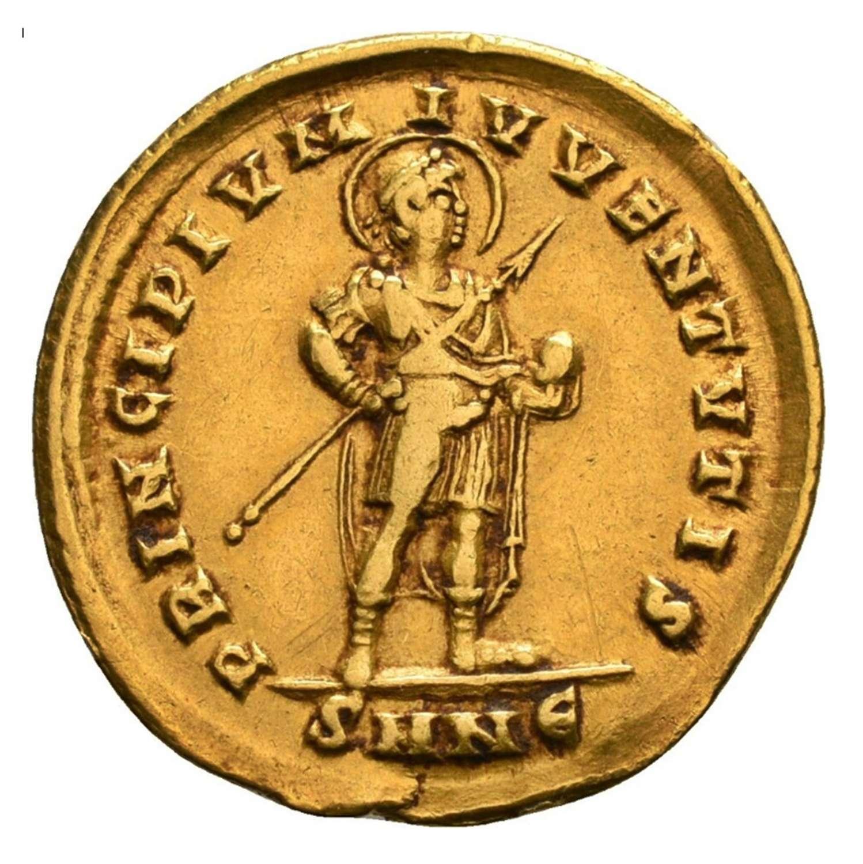 Roman Gold Solidus of Emperor Gratian Nicomedia Mint
