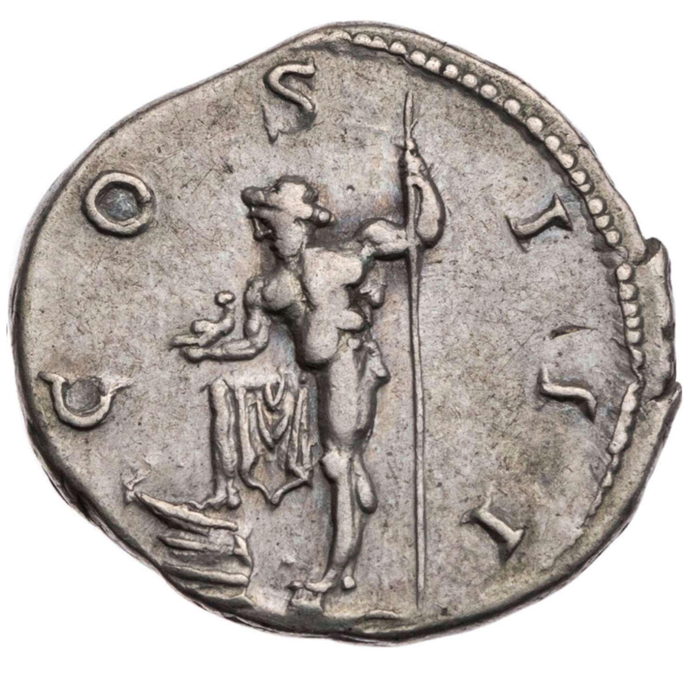 Ancient Roman Silver Denarius of Emperor Hadrian / Neptune