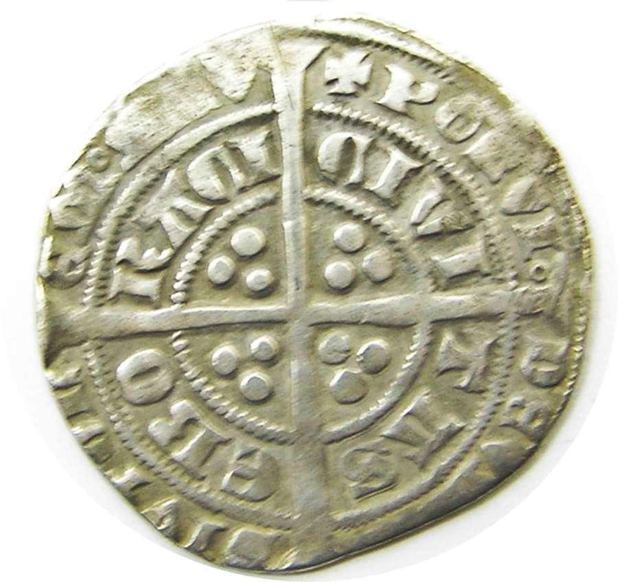 Medieval silver groat of king Edward III York