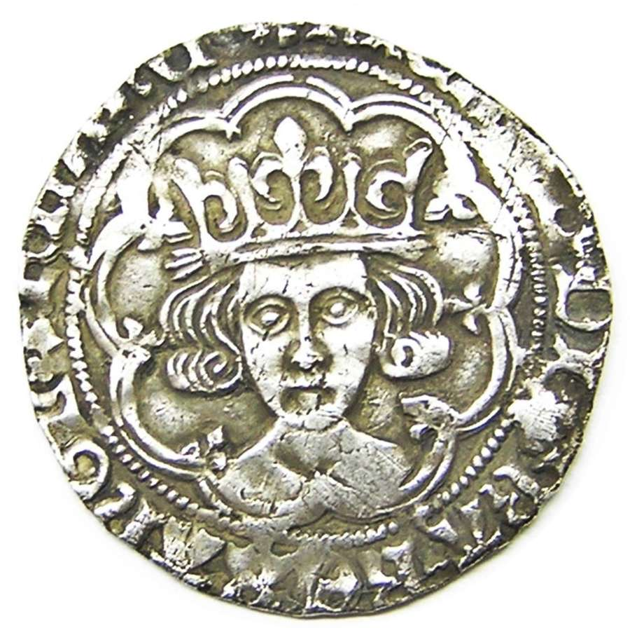 Medieval silver Groat of king Richard III London Sun & Rose