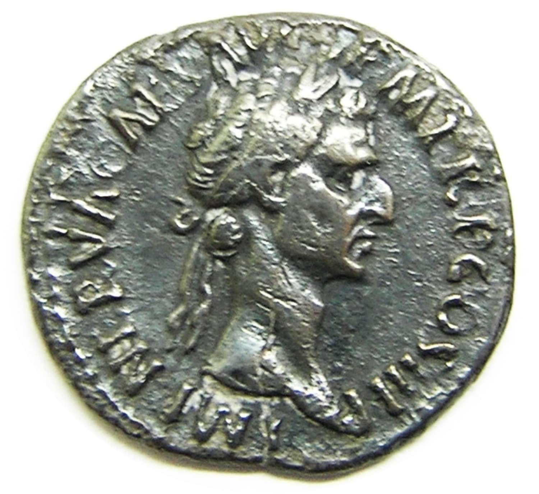 Ancient Roman Silver Denarius of Emperor Nerva / Harmony with the Army