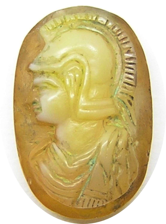 Ancient Roman Hardstone Sardonyx Cameo of Minerva