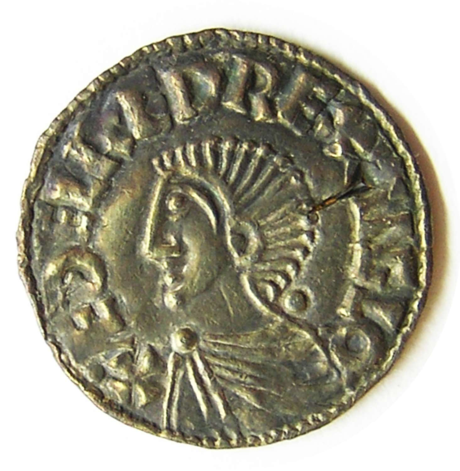 Anglo Saxon King Aethelred II Silver Penny by ÆLFRIC of London