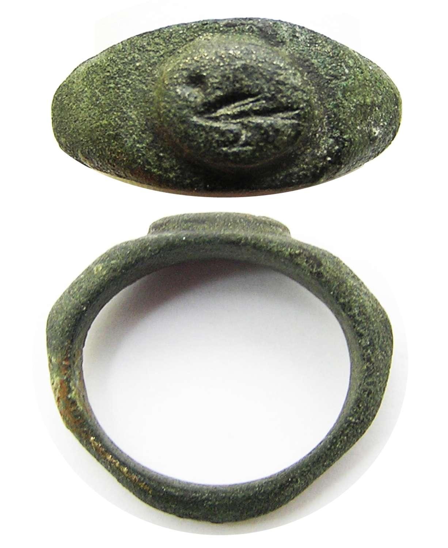 Roman bronze signet Heing type VIII Eagle