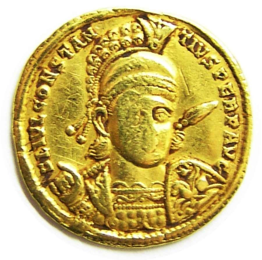 Roman Gold Solidus of Emperor Constantius II from the Sirmium mint