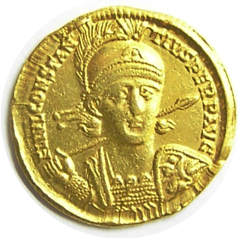 Roman Gold Solidus of Emperor Constantius II from the Nicomedia mint