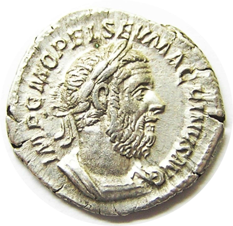 Ancient Roman Silver Denarius of Emperor Macrinius