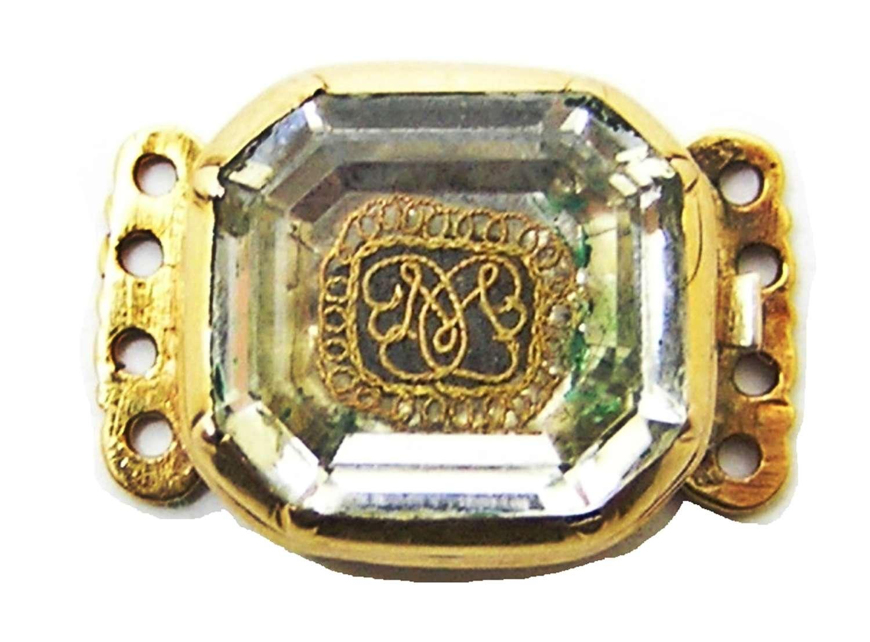 Stuart Crystal gold mourning bracelet clasp Monmouth Rebellion?