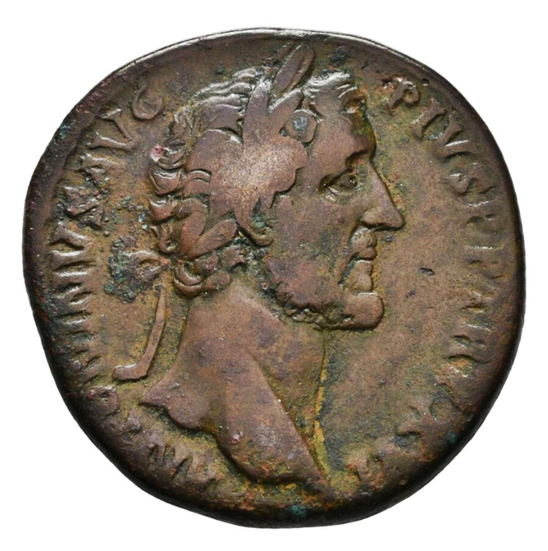 Ancient Roman AE Sestertius of Emperor Antoninus Pius / Indulgence