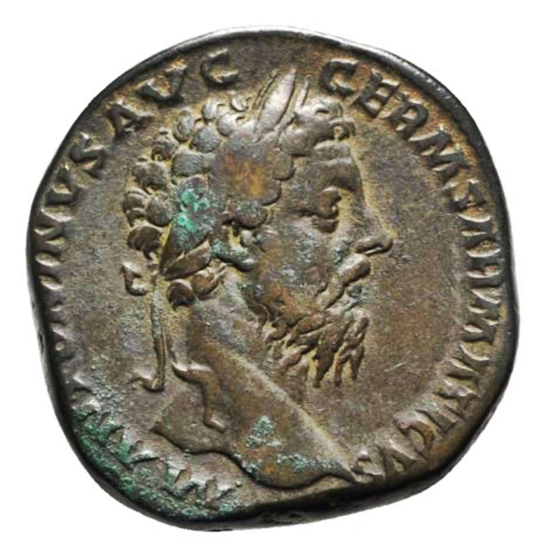 Ancient Roman AE Sestertius of Emperor Marcus Aurelius / Annona
