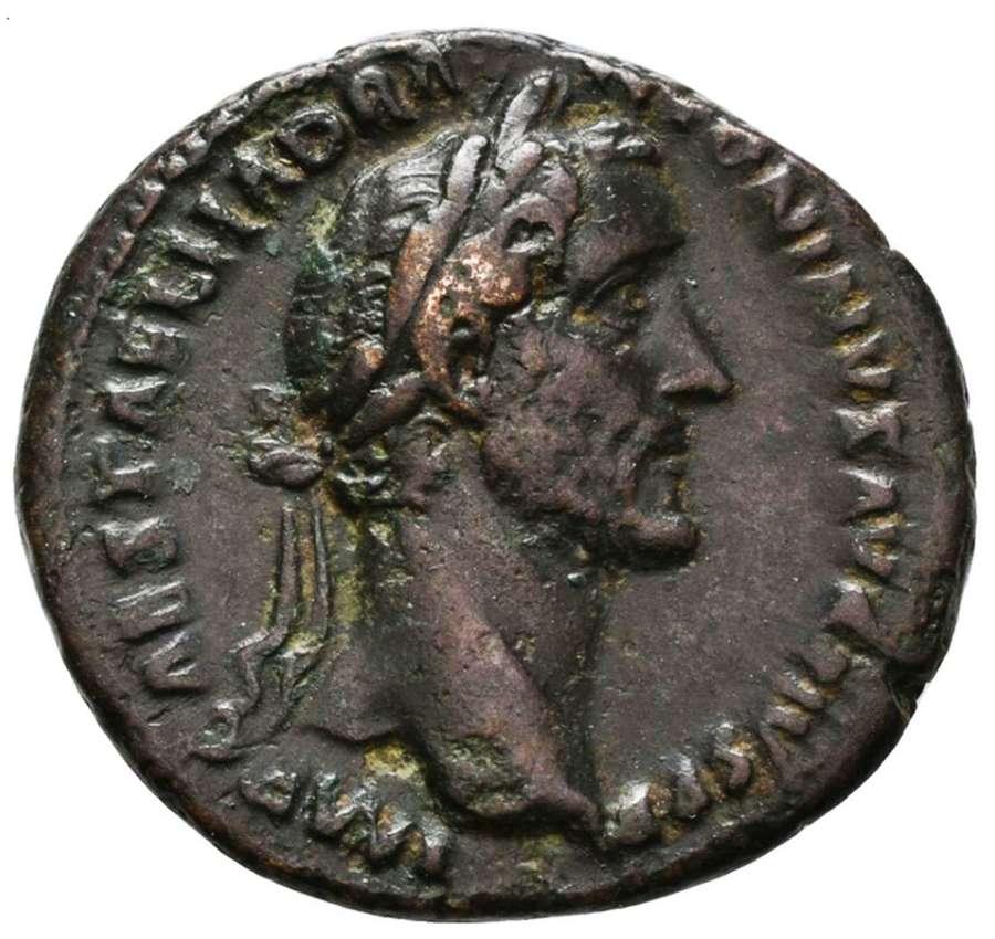 Ancient Roman Copper As of Emperor Antoninus Pius / Annona