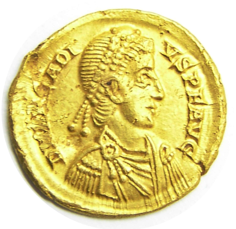 Roman Gold Solidus of Emperor Arcadius Milan Mint
