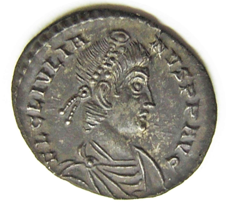 Ancient Roman Silver Siliqua of Julian II Struck at Lyons, France