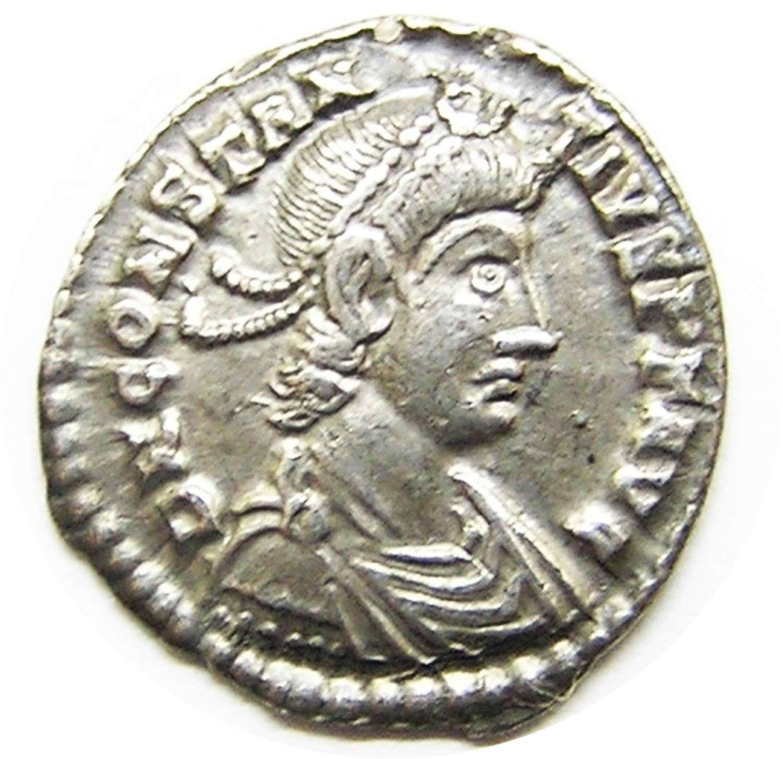 Ancient Roman Silver Siliqua of Constantius II Lyon France