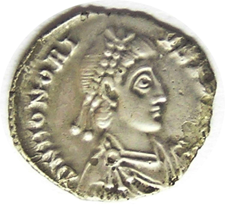 Ancient Roman Silver Siliqua of Emperor Honorius Milan