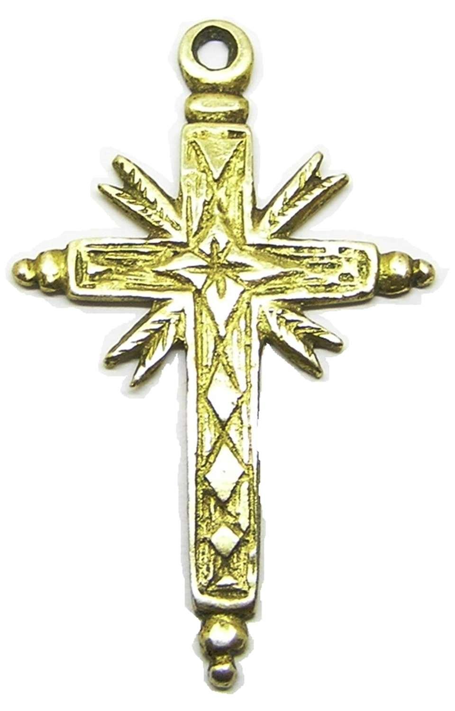 Renaissance silver-gilt cross pendant