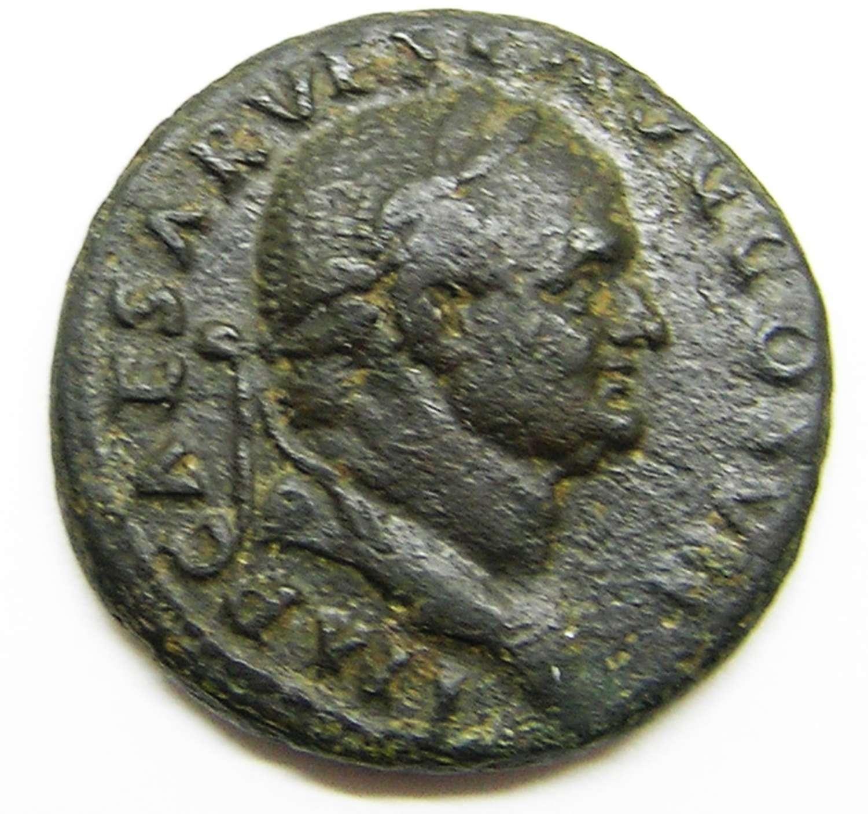 Ancient Roman AE As of Emperor Vespasian / Victory
