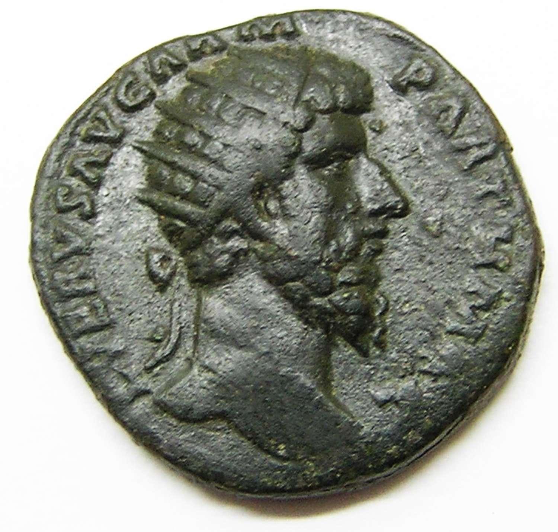 Ancient Roman AE Dupondius of Lucius Verus / Victory Parthia