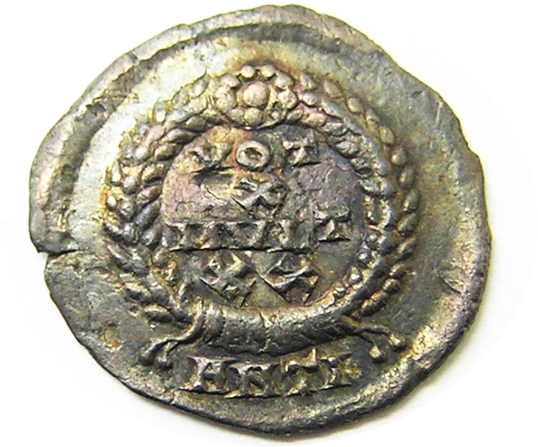 Ancient Roman Silver Siliqua of Emperor Valens Antioch