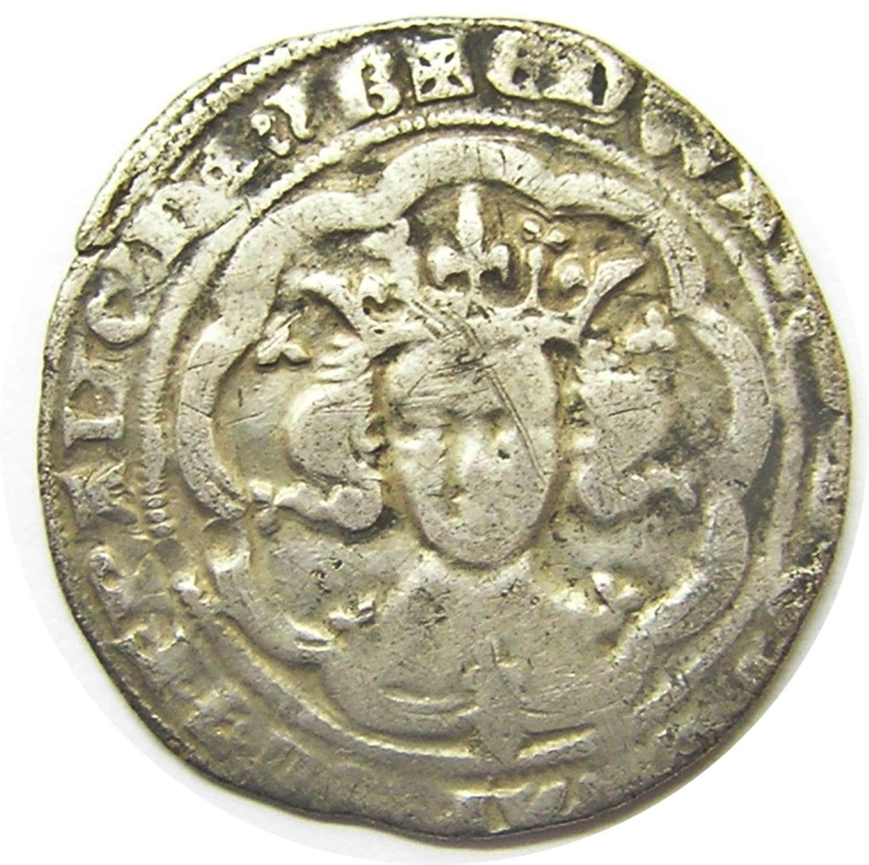 Medieval silver groat of king Edward III London