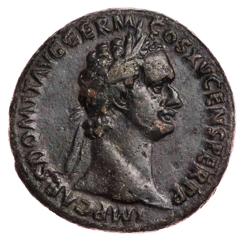 Ancient Roman Copper As of Emperor Domitian / Fortuna