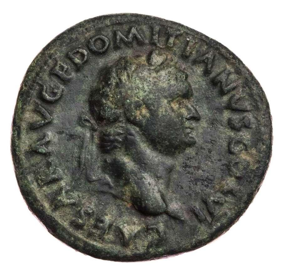 Ancient Roman Copper As of Domitian as Caesar under Titus / Spes