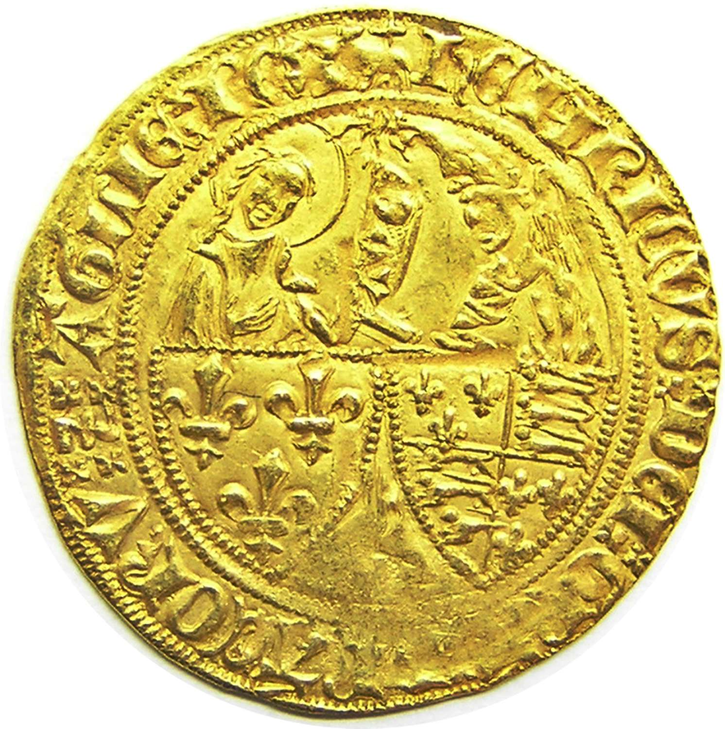 Medieval Gold Anglo-Gallic Salut d'or - Henry VI  AMIENS