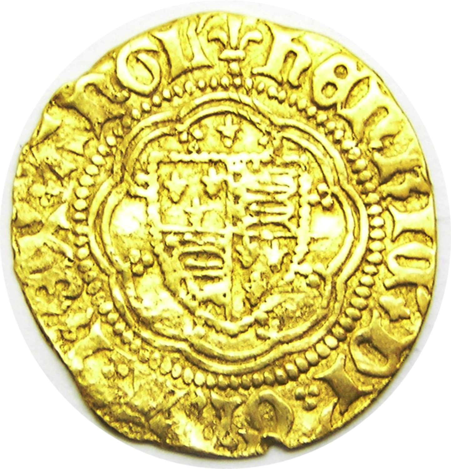 Medieval gold 1/4 noble of king Henry VI Calais